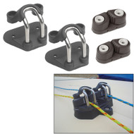 Barton Marine Laser Replica Cleat Base Assembly f\/Laser Dinghy