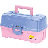 Plano Two-Tray Tackle Box w\/Dual Top Access - Periwinkle\/Pink