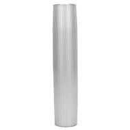 "TACO Aluminum Ribbed Table Pedestal - 2-3\/8"" O.D. - 26"" Length"
