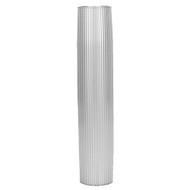 "TACO Aluminum Ribbed Table Pedestal - 2-3\/8"" O.D. - 27-1\/2"" Length"