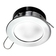 i2Systems Apeiron Pro Recessed LED - Tri-Color - Cool White\/Red\/Blue - 3W Dimming - Round Bezel - Chrome Finish