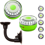 Navisafe Portable Navilight 360 2NM Rescue - Glow In The Dark - Green w\/Bendable Suction Cup Mount