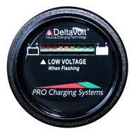 Dual Pro Battery Fuel Gauge - DeltaView Link Compatible - 24V System (2-12V Batteries, 4-6V Batteries)