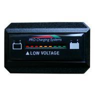 Dual Pro Battery Fuel Gauge - DeltaView Link Compatible - Rectangle - 36V System (3-12V Battery, 6-6V Batteries)