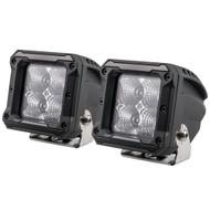 """HEISE 4 LED Cube Light - Flood - 3"""" - 2 Pack"""