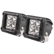 """HEISE 4 LED Cube Light w\/Harness - Spot Beam- 3"""" - 2 Pack"""