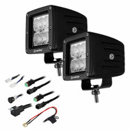 "HEISE 6 LED Cube Light - Flood Beam - 3"" - 2 Pack"