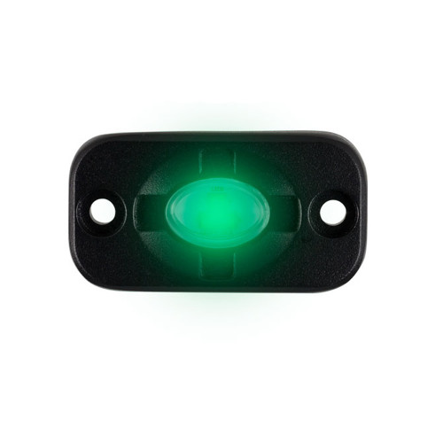 "HEISE Auxiliary Accent Lighting Pod - 1.5"" x 3"" - Black\/Green"