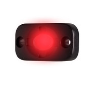 """HEISE Auxiliary Accent Lighting Pod - 1.5"""" x 3"""" - Black\/Red"""
