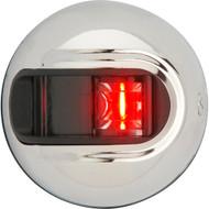 Attwood LightArmor Vertical Surface Mount Navigation Light - Port (red) - Stainless Steel - 2NM