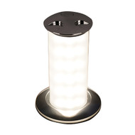 Quick Secret 3W Retractable Lamp w\/Automatic Switch IP66 Mirrored Chrome Finish - Warm White LED