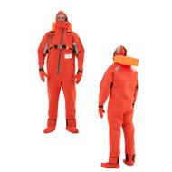 VIKING Immersion Rescue I Suit USCG\/SOLAS w\/Buoyancy Head Support - Neoprene Orange - Adult Small