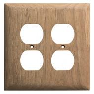 Whitecap Teak 2-Duplex\/Receptacle Cover Plate