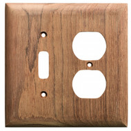 Whitecap Teak Toggle Switch\/Duplex\/Receptacle Cover Plate