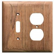 Whitecap Teak Toggle Switch\/Duplex\/Receptacle Cover Plate