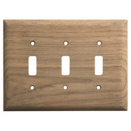 Whitecap Teak 3-Toggle Switch\/Receptacle Cover Plate