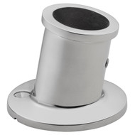 """Whitecap Top-Mounted Flag Pole Socket - Stainless Steel - 1"""" ID"""