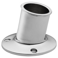 "Whitecap Top-Mounted Flag Pole Socket CP\/Brass - 3\/4"" ID"