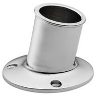 "Whitecap Top-Mounted Flag Pole Socket - CP\/Brass - 1-1\/4"" ID"