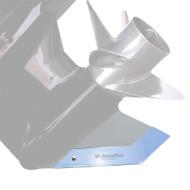 Megaware SkegPro - Stainless Steel - Evinrude 150, 200, 225, 250 HO E-Tec 2008-up  Yamaha VMAX, HPDI 200 hp w\/Large Powerhead 3.3 liter 2006-up  VMAX  HPDI 225, 250, 300 hp 2005 -up