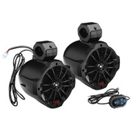 "Boss Audio B62ABT 6.5"" 2-Way Amplified Waketower Speakers w\/Bluetooth Controller"