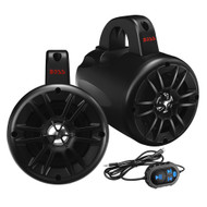 """Boss Audio BM40AMPBT 4"""" 2-Way Amplified Roll Cage\/Waketower Speaker Pods w\/Bluetooth Controller"""