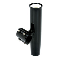 "Lees Clamp-On Rod Holder Horizontal Mount - Aluminum - Pipe Size #5 - 2.375"" - 2-3\/8"" OD - Black"