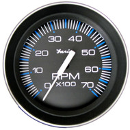 """Faria 4"""" Tachometer (7000 RPM) (All Outboard) Coral w\/Stainless Steel Bezel"""