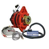 """Balmar Alternator 1-2"""" Single Foot K6 Serpentine Pulley Regulator  Temp Sensor - 170A Kit - 12V"""