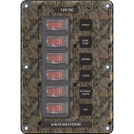 Blue Sea 4325 Circuit Breaker Switch Panel 6 Position - Camo