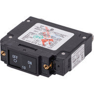 Blue Sea 7455 UL-489 Circuit Breaker - 10A Flat Rocker