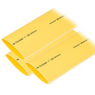"Ancor Heat Shrink Tubing 1"" x 3"" - Yellow - 3 Pieces"