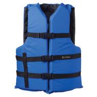 Onyx Nylon General Purpose Life Jacket - Adult Oversize - Blue