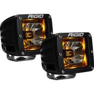 RIGID Industries Radiance Pod Amber Backlight Black Housing - Pair