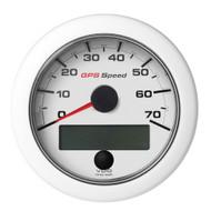 """VDO 3-3\/8"""" (85mm) OceanLink GPS Speedometer 0-70 - White Dial  Bezel"""