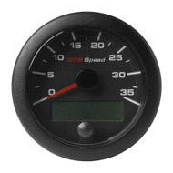 "VDO 3-3\/8"" (85mm) OceanLink GPS Speedometer 0-35 - Black Dial  Bezel"