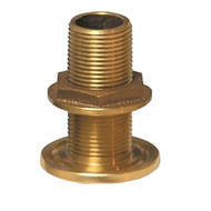 "GROCO 3\/4"" NPS NPT Combo Bronze Thru-Hull Fitting w\/Nut"