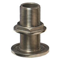 """GROCO 1"""" NPS NPT Combo Stainless Steel Thru-Hull Fitting w\/Nut"""