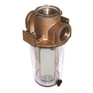 "GROCO ARG-1500 Series 1-1\/2"" Raw Water Strainer w\/Non-Metallic Plastic Basket"