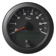 "VDO 3-3\/8"" (85mm) OceanLink NMEA 2000 Tach - 7000 RPM - Black Dial  Bezel"