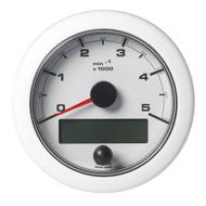"VDO 3-3\/8"" (85mm) OceanLink NMEA 2000 Tach - 5000 RPM - White Dial  Bezel"
