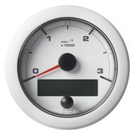 "VDO 3-3\/8"" (85mm) OceanLink NMEA 2000 Tach - 3000 RPM - White Dial  Bezel"