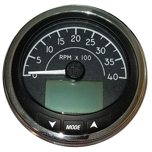 "Faria 4"" Tachometer (4000 RPM) J1939 Compatible w\/o Pressure Port - Euro Black w\/Stainless Steel Bezel"