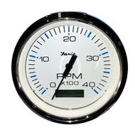 "Faria 4"" Tachometer w\/Hourmeter (4000 RPM) (Diesel) Mech. Takeoff  Var. Ratio Alt"