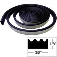 """TACO Weather Seal - 10'L x """"H x 3\/8""""W - Black"""