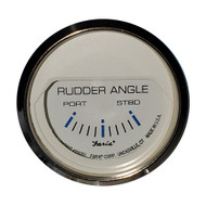 "Faria 2"" Rudder Angle Indicator - Chesapeake White w\/Stainless Steel Bezel"
