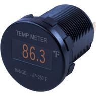 Sea-Dog Round OLED Temperature Meter Fahrenheit w\/6 Lead