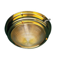 "Sea-Dog Brass Dome Light - 4"" Lens"