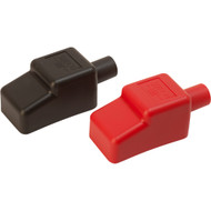 """Sea-Dog Battery Terminal Covers - Red\/Back - 1\/2"""""""