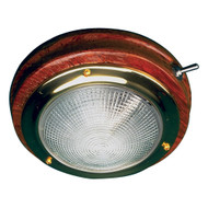 "Sea-Dog Teak LED Dome Light - 5"" Lens"